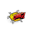 omg cartoon comic book sound pop cloud blast vector image vector image