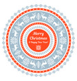 ornamental christmas card vector image vector image
