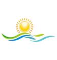 panorama scenery sunset design icon symbol vector image
