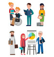 people and business work vector image vector image