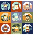People of Different Nationalities Flat Style vector image