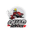 quad bike service logo isolated background vector image vector image