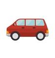 red car van vehicle vector image