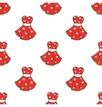 retro style dresses seamless pattern vector image vector image