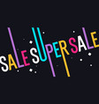 sale poster for discount modern vector image