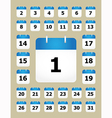 set calendar pages vector image vector image