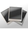 Shiny Polaroid Frames vector image vector image