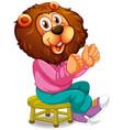 smiley lion cartoon character vector image vector image