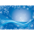 snowflake abstract background vector image vector image