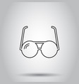 sunglass icon on isolated background business vector image