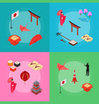 symbol of japan banner card set isometric view vector image