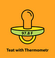 teat with thermometr vector image vector image