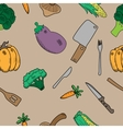 texture with vegetables vector image vector image