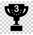 third prize cup icon vector image