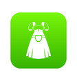 traditional bavarian dress icon digital green vector image