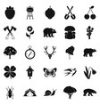 trekking in the wild icons set simple style vector image vector image