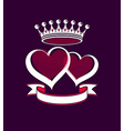 Valentine's Day Emblem vector image