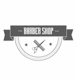 Vintage barbershop logo vector image vector image