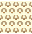 vintage seamless wallpaper yellow vector image vector image