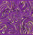 violet and gold marble abstract background vector image vector image