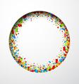 White round festive background vector image vector image