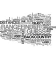 why range finders are perfect for the backcountry vector image vector image