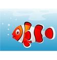 Clown fish cartoon vector image