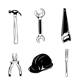 Worker tools icons isolated on white vector image