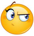 suspecting female emoticon vector image