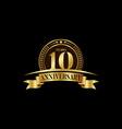 10th years anniversary logo template design