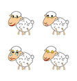 A funny sheep expressing different emotions vector image