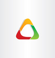 abstract triangle business icon design vector image vector image