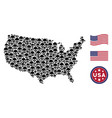 american map stylized composition of skull vector image