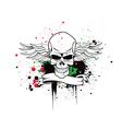 artistic skull vector image vector image