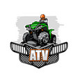 atv quadbike climbet on mountains isolated vector image vector image