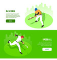 baseball isometric banners vector image vector image