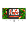 Billboard with ads of black friday sale holidays
