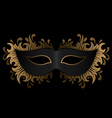 black mask with golden ornament vector image vector image