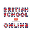 british school online english courses banner vector image vector image