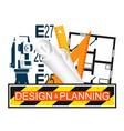 building design and planning vector image