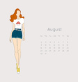 Calendar with fashion girl 2015 vector image vector image