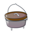 camp cauldron for cooking icon cartoon style vector image vector image