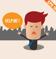 Cartoon Businessman ask for help - - EPS10 vector image