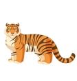 Cartoon standing tiger vector image vector image