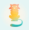 cat of triangles vector image vector image