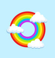 circle lgbt rainbow in clouds symbol icon vector image vector image