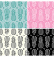 collection seamless repeating pineapple vector image