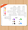 Crossword education game for children about colors vector image