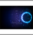 deep blue futuristic game technology vector image vector image