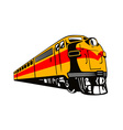 Diesel Train Retro vector image vector image